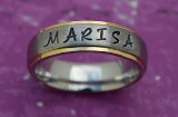 Marisa Silver & Gold Stamped Ring